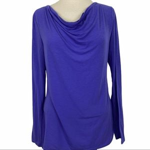 LUCY Purple Athletic Cowl Neck T-Shirt